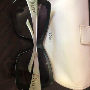 Dior sunglasses- metallic green